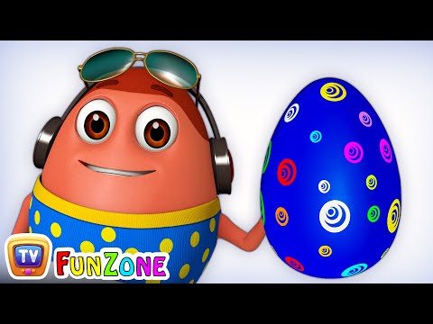 Learn BLUE Colour with Johny Johny Yes Papa | Surprise Eggs Colours Ball Pit Show | ChuChuTV 3D Fun