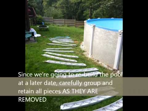 Dismantling & Storing an Above Ground Round Pool