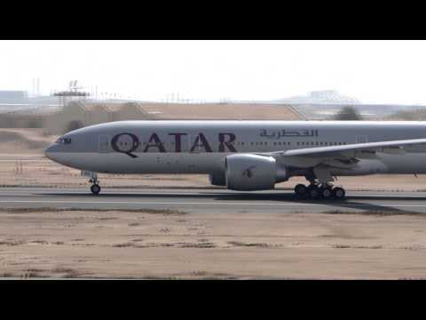 Qatar Airways B777-2DZLR (A7-BBD) leaving Doha Int'l [DOH/OTBD] Information : Airline: Qatar Airways Flight: QR921 From: Doha, Doha (DOH) To: Buenos Aires, Ezeiza (EZE) Aircraft: Boeing 777-2DZLR...
