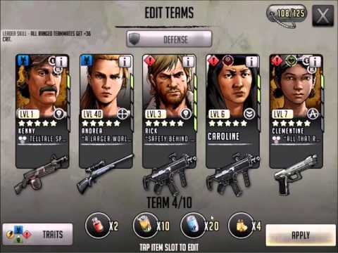 Walking Dead : Road to Survival - EPIC 5 STAR TEAM BUILDING