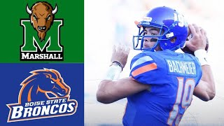 Marshall vs #24 Boise State Highlights | NCAAF Week 2 | College Football Highlights