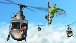 DEATHRUNNERS vs. HELICOPTERS! (GTA 5 Funny Moments)