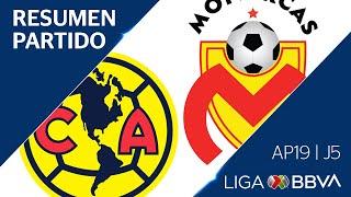 Resumen y Gol | América vs Morelia | Liga BBVA MX - Apertura 2019  - Jornada 5