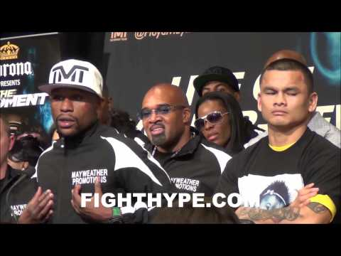 FLOYD MAYWEATHER TELLS MARCOS MAIDANA WE COULD DO IT AGAIN IN SEPTEMBER