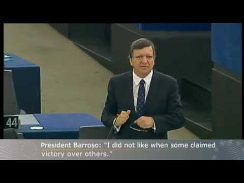 "José Manuel Barroso in European Parliament: ""I did not like when some claimed victory over others"""
