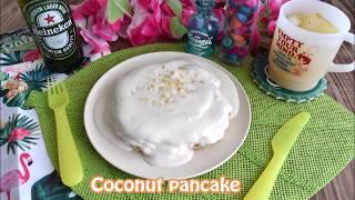 Coconut Pancake  【Hawaiian Cafe Menu】ココナッツ パンケーキ【家カフェ】