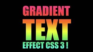 css 3 - Gradient color fill in the Text using Html 5 css 3 & SVG