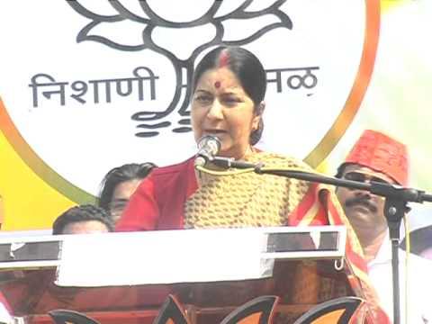 sushma swaraj on udhhav thakare