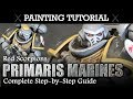 How To Paint Primaries Space Marines (RED SCORPIONS) Warhammer 40K Painting Tutorial   HD thumbnail