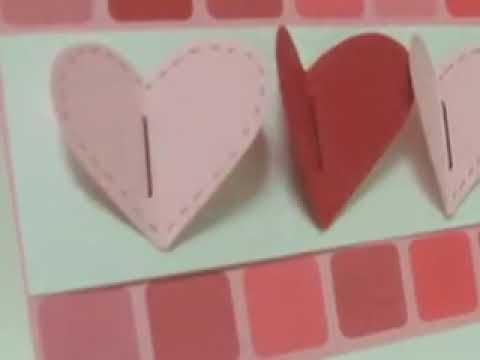 Ku-Ku CARD-Valentine's Day.3 hearts / Día de los Enamorados