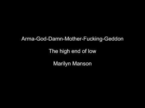 Marilyn Manson Arma God Damn Mother Fucking Geddon video