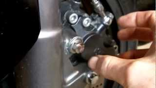 How to bleed your front rear brake calipers on your motorbike