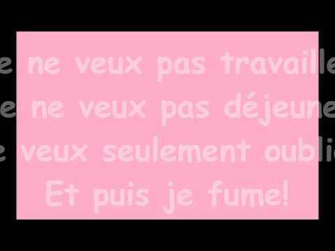 Pink Martini - Je ne veux pas travailler (lyrics)