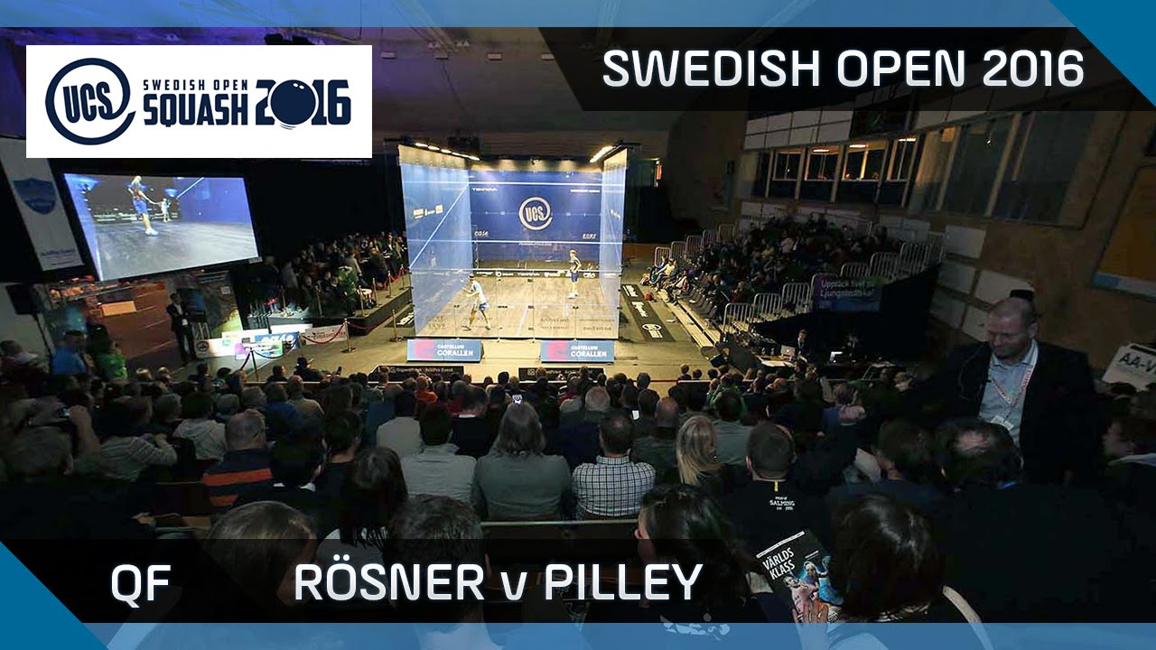 Squash: Rösner v Pilley - UCS Swedish Open 2016 - QF Highlights