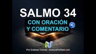 SALMO 34 Biblia Hablada Con Explicación ORACIÓN PODEROSA en Audio y con Letra Grande Para Leer