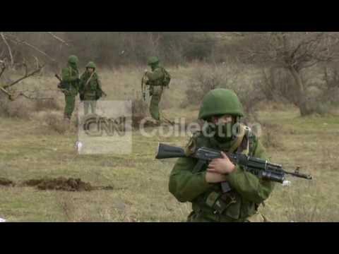 UKRAINE: UNMARKED TROOPS SURROUND PEREVALNOYE