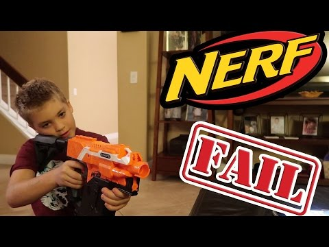NERF UNBOXING FAIL!