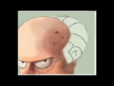 Simpson Mr.Burns Speed Painting Human-Umanizzato