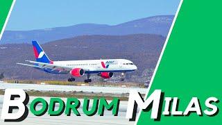 Milas - Bodrum Airport Landing ||4K- Turkey