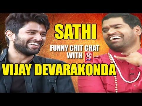 Bithiri Sathi Chit Chat With Actor Vijay Devarakonda | Teenmaar News | V6  News