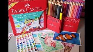 Review e Dicas Iniciantes Lápis Aquareláveis 60 cores Faber Castell