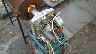 Automatic waste oil burner.(arzator automat de ulei uzat)