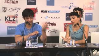 Jasika Nicole and Osric Chau from Fringe in Wizard Con Madrid