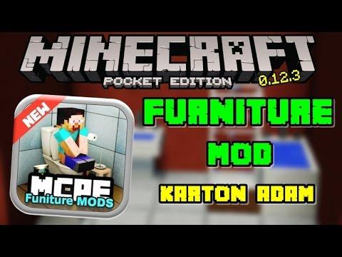 Minecraft PE: Furniture Mod 0.12.3 | Tuvalet Kağıdı Askısı, Playstation :D