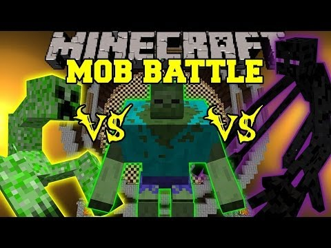 MUTANT ENDERMAN VS MUTANT CREEPER VS MUTANT ZOMBIE - Minecraft Mob Battles - Mut