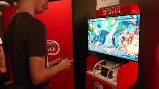 Dragon Ball FighterZ Nintendo Switch: Vegeta SSGSS Versus Androide 21 Gameplay Live Demo HD (N-Gamz)