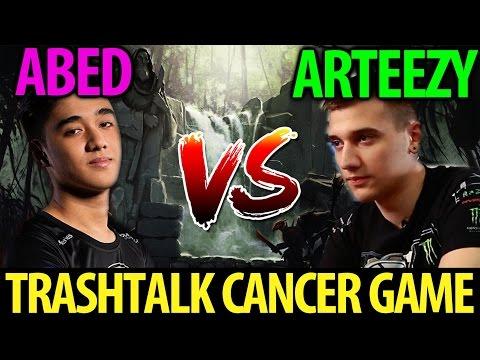 Arteezy [OD] vs Abed [Invoker] Dota2 Trash Talk Cancer Game- 8312MMR vs 8559MMR