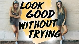 How to Look Good Without Trying! Simple & Natural Everyday Makeup, Hair, & Outfit for School