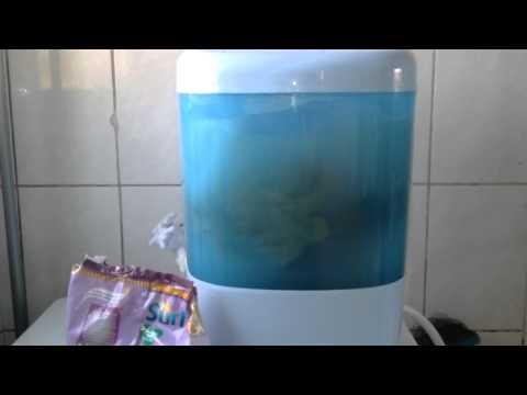 Roupa suja se lava na máquina! - Mini lavadora Silver Wash 1.2kg