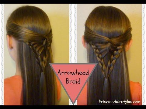 Half Up Hairstyle, Arrowhead Braid Tutorial