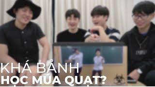 Người Hàn lần đầu xem Khá BảnH và học quẩy múa quạt nền nhạc 999 Đóa Hồng Remix - Hanoi Oppa