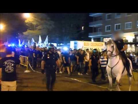 Llegada del Frente al Bernabéu. Real Madrid - Atleti (Supercopa 14/15)