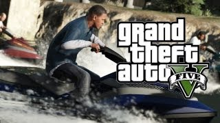 GTA 5 - 9 New Screenshots & Analysis (Jet Ski,Plane,Disco,AK 47)