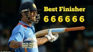 Ms Dhoni 6 Sixes in 6 Balls || Ms Dhoni 666666 in 6 Balls.