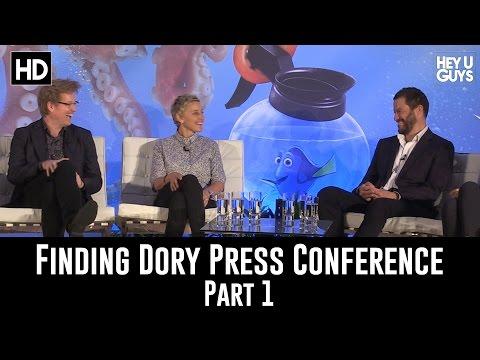 Finding Dory Press Conference Part 1 - Ellen DeGeneres, Andrew Stanton & Dominic West
