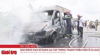 Xe khách đang chạy cháy ngùn ngụt, bé trai 14 tuổi chết thảm
