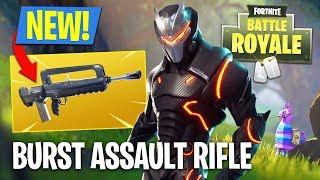 Fortnite NEW Gun Update - Burst Assault Rifle Gameplay!! (Fortnite Battle Royale)