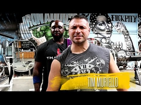 Big Rob and Tim Muriello Shoulder Workout at Iron Addicts Gym