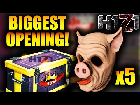 UNBOXING 5 ULTRA RARE CIGAR HOG MASKS! Biggest H1Z1 Legacy Crate Opening! Toxic Shotgun Skin + More!
