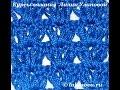 Узор Ирисовая вязка - Crochet pattern iris binding - веера и ракушки крючком