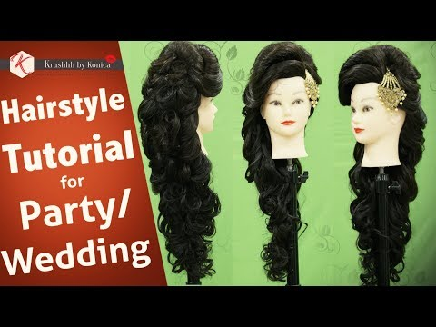 Hair Style Tutorial Video For Wedding | Step by Step Party Hairstyle Tutorial | Krushhh by Konica