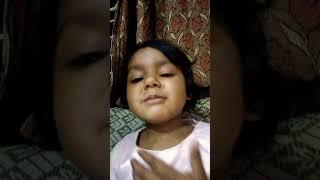 Little girl singing chota Bheem song