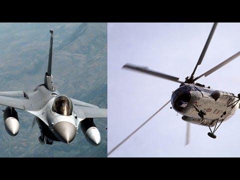 Turkish warplanes shoot down Syrian helicopter near border