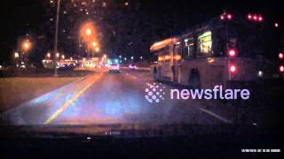 Bus driver almost kills someone