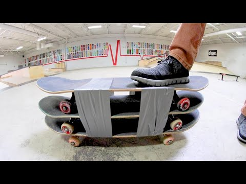 YOU MUST SKATE THE TRIPLE DECKER SKATEBOARD! / Warehouse Wednesday