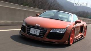 Audi R8 Spyder facelift BodyKit&Full Titanium ExhaustSystem by Rowen Japan.